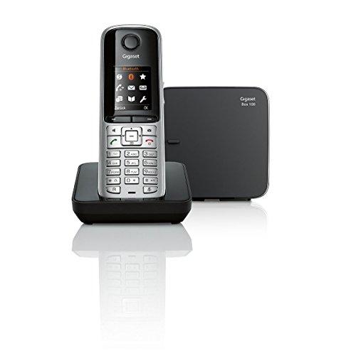 Gigaset S810 Telefon - Schnurlostelefon / Mobilteil - mit Farbdisplay - Dect-Telefon - schnurloses Telefon / Freisprechen, platin schwarz