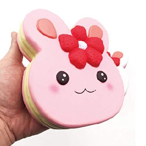 AiBarle 1 x Squishy-Spielzeug, lustiges Junbo-Kuchenspielzeug, weich, Stress und Angstlinderung, Spielzeug DIY Dekoration für Kinder/Erwachsene (weiß), Herren, Rose