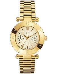 Guess Collection GC Diver Chic 27513L1 - Reloj analógico de caballero de cuarzo con correa de acero inoxidable dorada