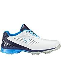 Callaway Xfer Nitro Zapatillas de Golf, Hombre, Blanco (White/Blue), 46 EU