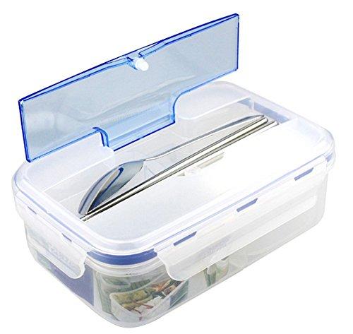 Cosanter Lunchbox Praktische Brotdose Bento Box - Lunch Box mit Trennwand - Perfekt für Büro - Schule - Kinder Garten