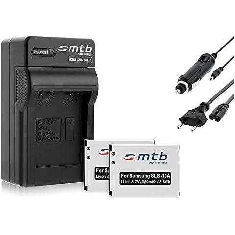 2 Baterìas + Cargador (Coche/Corriente) para JVC BN-VH105, GC-XA1, XA2 / BenQ DLI-301/ Silvercrest..ver