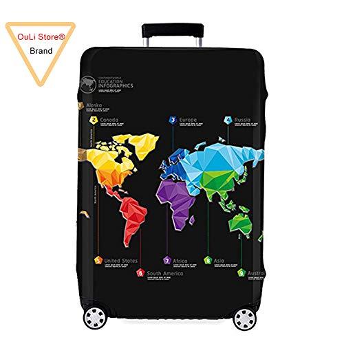 Cover Proteggi Copertura per valigie 18-32 pollici Coperchio per bagagli in fibra di bambù, fibra di carbonio (Color 1, L)