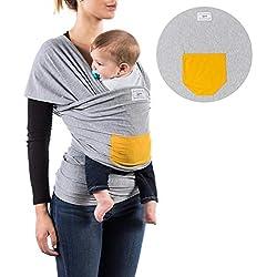 Fular portabebés 100% de algodón- Amplio tamaño - Porteo seguro y ergonómico durante la lactancia-¡Pruébelo!