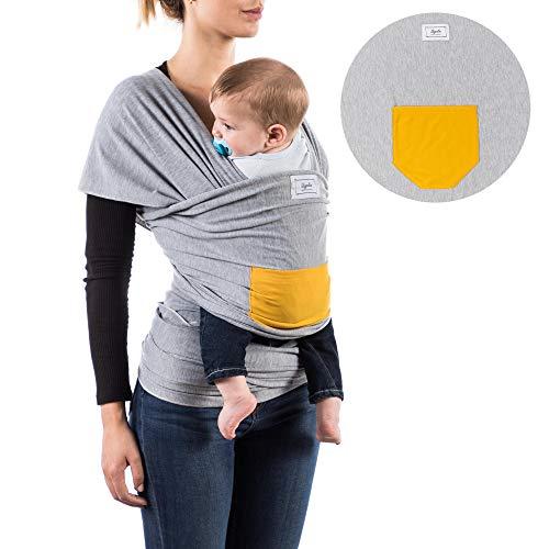 Qigoba - Écharpe de portage 100% coton - Grand modèle - Transport sûr et ergonomique pendant l'allaitement