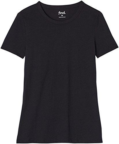 FIND Camiseta Extra Suave para Mujer , Negro (Negro), 38 (Talla del Fabricante: Small)