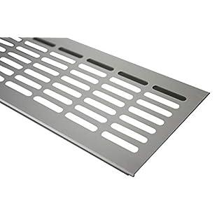 Aluminium Lüftungsgitter Stegblech Lüftung 100mm x 1000mm in verschiedenen Farben (Edelstahl eloxiert)