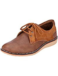 Kingswalker Men's Tan Lace-Up Casual Shoe - 10 UK