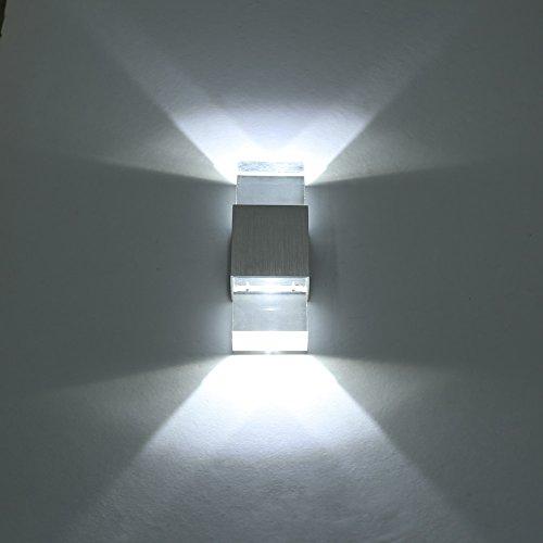 Amzdeal Lampada da parete 6W Testa a doppio cristallo lampada