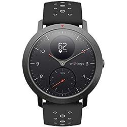 Withings Steel HR Sport - Multi-Sport Hybrid Smartwatch - Herzfrequenz- und Fitnesstracker, schwarz, 40mm