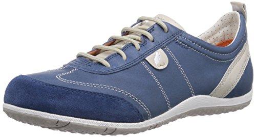 Geox D Vega A, Baskets mode femme Blau (DENIMC4008)