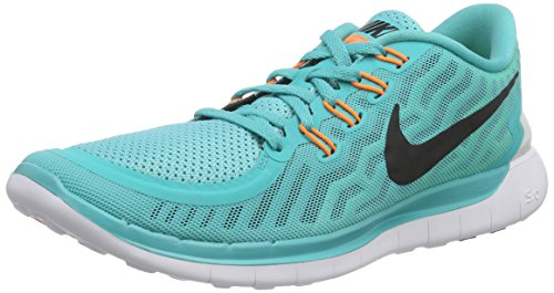 Nike  Free 5.0, Chaussures de Running Compétition homme Turquoise - Türkis (Light Retro/Black-Electric Green-Volt)