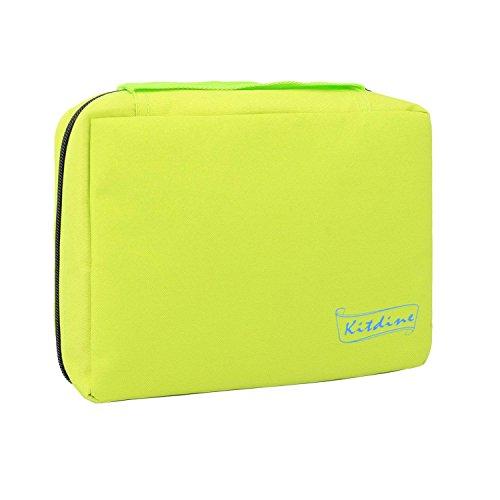 Kitdine Bolsa para Organizar-para Aseo Personal - Para Hombres y Mujeres / Kit de Tocador Colgante / Organizador para Estar al Aire Libre (Verde)