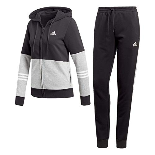 adidas Damen WTS CO Energize Trainingsanzug, schwarz/brgrin/weiß, XXS