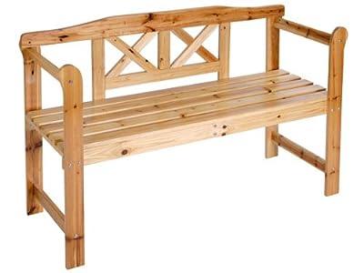 Robuste Gartenbank Sitzbank Holzbank für Innen und Außen geeignet