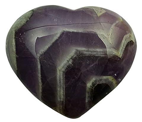 Harmonize Lace Amethyst Stone Spiritual Gift Meditation Heart Shape Pocket