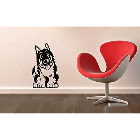 Pegatina de Pared Vinilo Adhesivo Perro Perrito Mascota Animal Funny ig1371