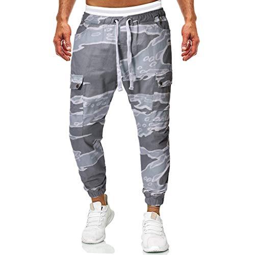 Dwevkeful Tarnhose Herren Cargo Hose Camouflage Jogginghose Mit Vielen Taschen Arbeitshose Freizeithose Vintage Airborne Trousers Outdoor JäGerhose