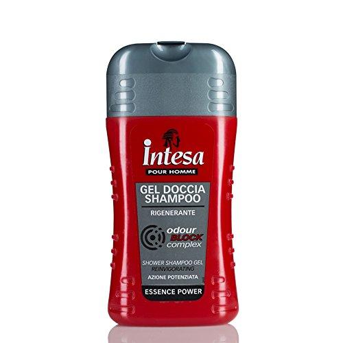 Intesa pour Homme - Gel Doccia Shampoo, Rigenerante , 250 ml