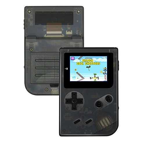QUMOX Handheld Spielkonsole, Retro Mini GBA System Spielkonsole 2 Zoll HD Bildschirm 548 Classic GB Games, Geburtstagsgeschenke für Kinder - Transparent Schwarz
