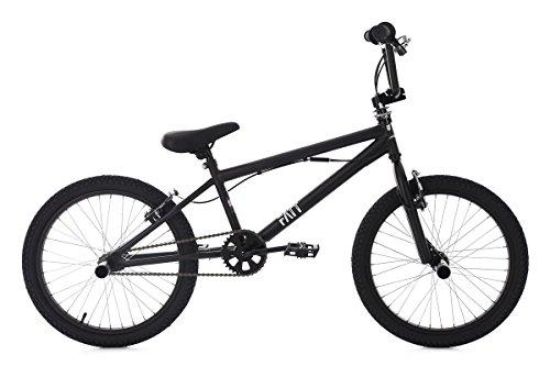 KS Cycling BMX Freestyle 20 Zoll Fatt Fahrrad, schwarz