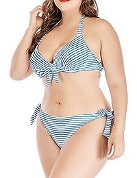 Damen Ein Stück Badeanzug Ungepolstert Kreuzgurt Mesh Transparenter Bikini S~XL