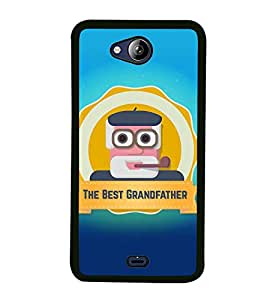 FUSON The Best Grandfather Wallpaper Designer Back Case Cover for Micromax Canvas Play Q355