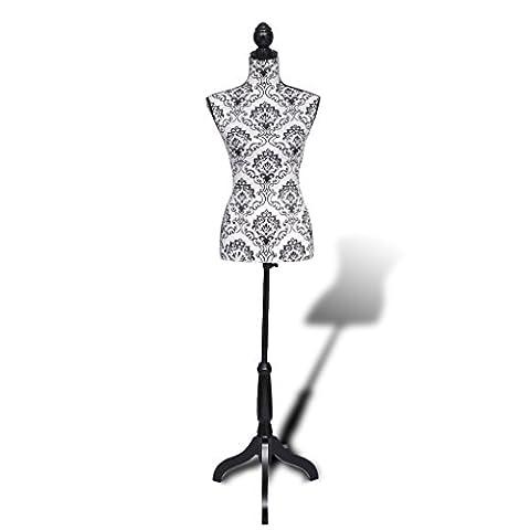 Buste Mannequin - vidaXL Buste de couture mannequin femme noir