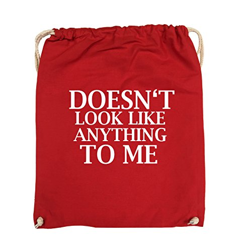 Comedy Bags - DOESN'T LOOK LIKE ANYTHING TO ME - Turnbeutel - 37x46cm - Farbe: Schwarz / Silber Rot / Weiss
