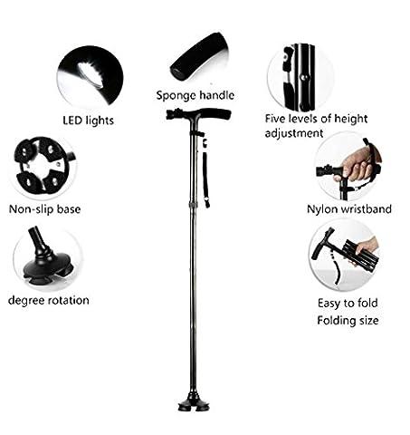 Smart Easy Walking Stick Adjustable - Lightweight Aluminium Folding Walking Cane