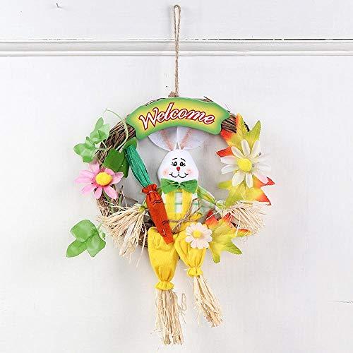 Lxj Osterhase Halloween Kranz Vogelscheuche handgemacht Farbe Tier Kindergartenkinder handgefertigte niedliche Kleine Hase