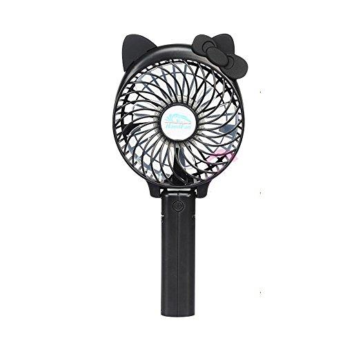 LJHA fengshan Mini ventilateur portable portable Mini ventilateur rechargeable usb Étudiant Office Desktop Mute Fan (Noir) (22 * 10.5cm)