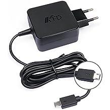 "KFD 33W Adaptador para Cargador Asus Eeebook X205 X205T Asus X205TA,Asus e202sa T100Ha Tp200s 11,6"" AD890526 HATM0103 ADP-33AW B X205TA-DH01 Tablet Cargador Portatil Asus Fuente de Alimentación - 19V 1.75A"