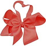 Chicky Chicky Bling Bling Girls Jumbo Light Coral Chunky Bow Soft Elastic Headband Womens Light Coral
