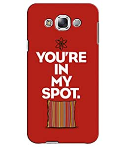 EU4IA - SAMSUNG GALAXY E7 - PRINTED BACK COVER CASE - MATTE FINISH