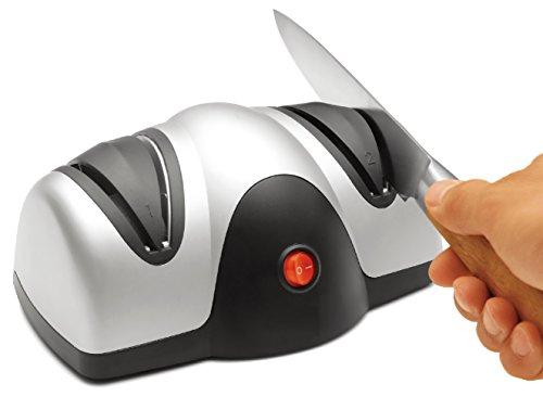 Messerschärfer eletkrischer Messerschleifer Messerschleifmaschine Allesschärfer Schärfgerät 2 Stufen Schärfprozess für alle glatten Messerarten