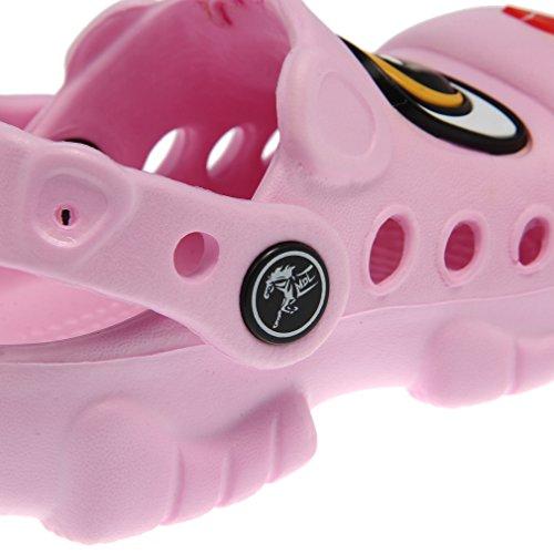 Bigood Sandales Chaussures Unisexe Enfant Bébé en EVA Chien Forme Rose