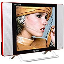 Vispro 17 inch Full HD LED TV (White with Sporty RED Border Stripe)