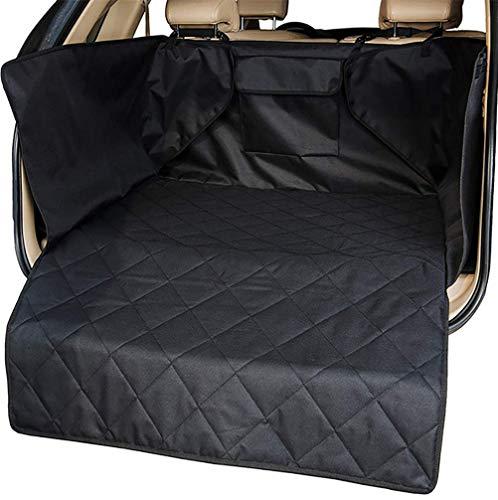 DAN Kofferraumschutz Hunde Wasserdichte Kofferraumdecke Für Auto Schondecken Mit Seitenschutz Für Verschiedenes, Kratzern, Schmutz und Tierhaaren,Black