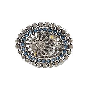 KONPLOTT Ring Sinners and Saints aus Metall mit Glassteinen, verstellbare Ringschiene 5450527893978
