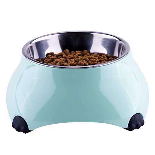 SuperDesign Dog Cat Bowls Melaminständer Edelstahl Pet Töpfe für kleine mittelgroße Hunde und Katzen,MEHRWEG Verpackung -