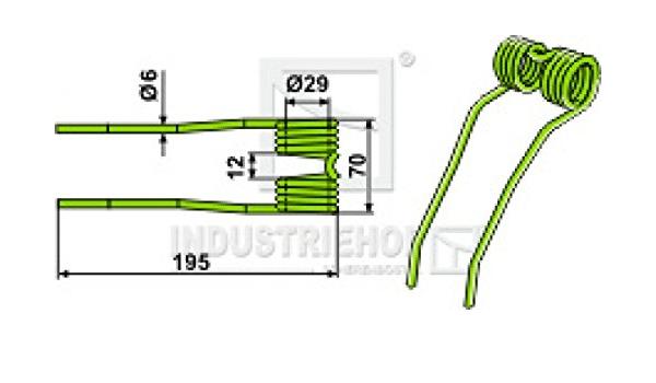 Steingrau Agrispring 10 x Federzinken F/ür Krone Pick-up zinken 9381480