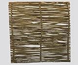 bambus-discount.com Haselnuss Zaun mit 180 x 150cm Modell Sommer - Sichtschutzzaun