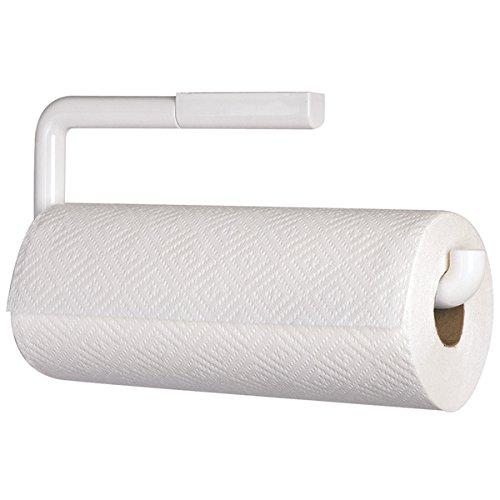 Foto de mDesign Portarrollos de cocina para pared – Soporte para rollo de papel – El perfecto aplique de pared para rollo de cocina – Accesorios de cocina - Color blanco