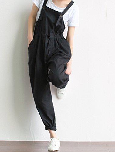 MatchLife Damen Harem Pluderhose Jumpsuits Hosen Art 2 Schwarz