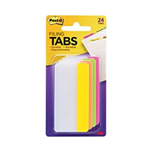 Postit Durable Tabs 2X1.5 Assorted