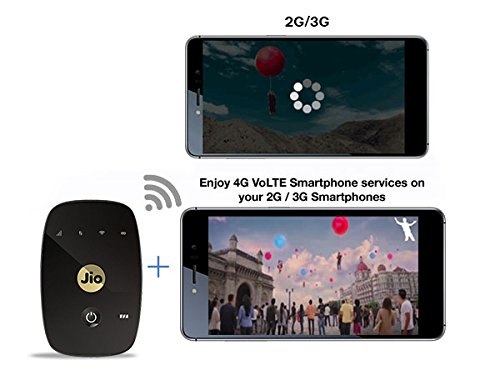 JioFi 4G Hotspot M2S 150 Mbps Wireless 4G Portable Wi-Fi Data Device (Black)