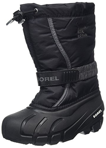 (Sorel Kinder Youth Flurry Stiefel, schwarz/grau (city grey), Größe: 35)