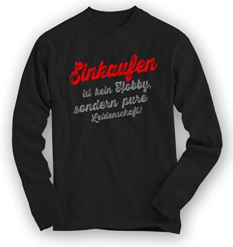 Einkaufen Sweatshirt | Einkauf-Pullover | Hobby | Leidenschaft | Unisex | Sweatshirts © Shirt Happenz Schwarz