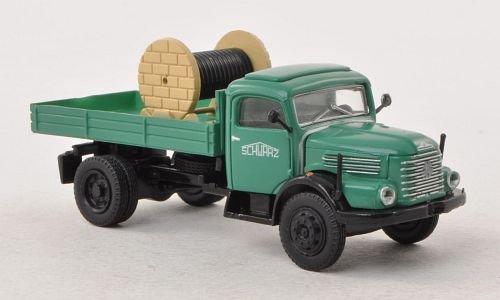 Steyr 380/I Pritsche, Schwarzbau, mit Ladegut (A) , Modellauto, Fertigmodell, Brekina Starline 1:87